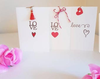 Love cards pk of 3