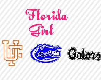 florida gators svg, gators cuttable digital file, cricut file, silhouette  files, svg cutting files, university florida gators logo svg