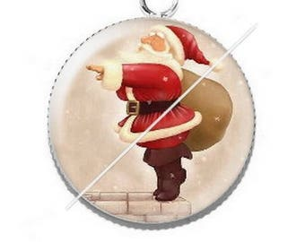 Pendant cabochon resin Merry Christmas happy holidays 7