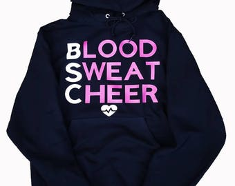 Blood Sweat Cheer Black Hoodie