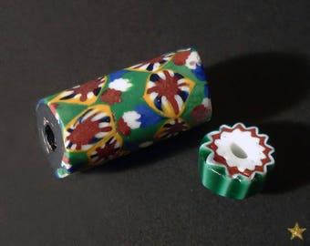 African antique millefiori Murano glass beads