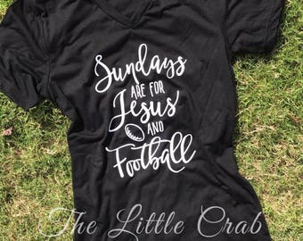 Sundays are for Football & Jesus Tee