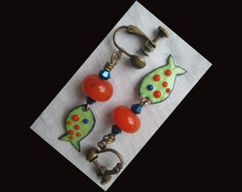 """Pretty pirhanas clip earrings!"