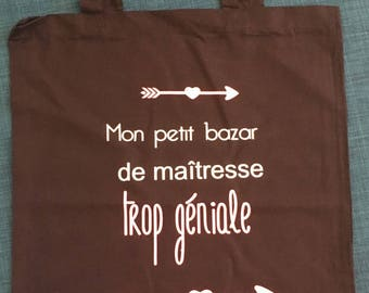 Tote bag cotton bag to say thanks to his mistress