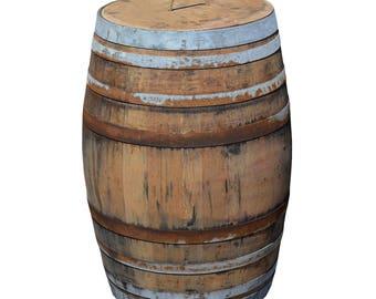 225L Wine Barrel as a rain rustic-solid oak barrel as a rain ton