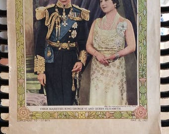 """Antique """"TIT-BITS"""" Coronation Souvenir 1937."""
