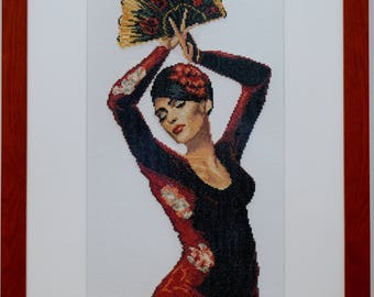 Embroidery picture dancer