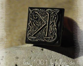 Wax seal - letter K