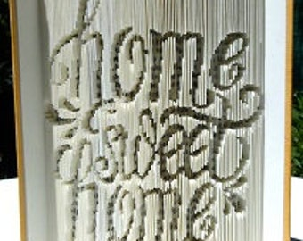 "Carving book ""Home sweet Home"""
