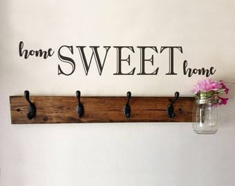 Vinyl Wall Lettering Home Sweet Home