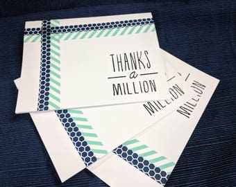 Handmade Set of 3 Thank You Cards