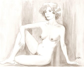 Nude from a live model