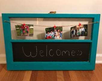 Baby Shower Gift Vintage Rustic Picture Frame Chalkboard Window