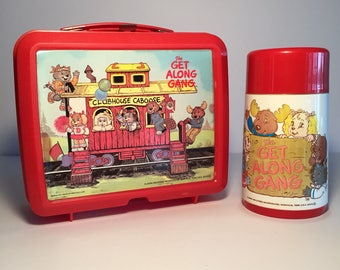 The Get Along Gang Plastic Lunch Box and Thermos Clubhouse Caboose 1980s Aladdin TV Show Televison