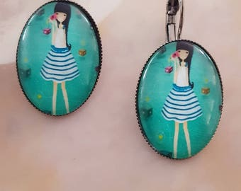 Fashionable little girl earrings