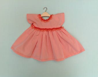 Dress doll 40 cm + hanger, clothing, doll fashions and work, party dress in taffeta