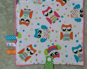 Blanket pacifier owls collection