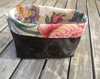 empty basket black and floral Pocket