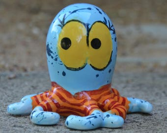 Gillis...Hand painted one of a kind ceramic octopus