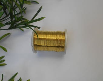 roll of 0.30 mm - 10 m gold plated copper wire