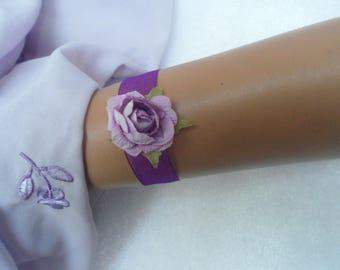Bracelet child or baby - purple and purple - pink purple
