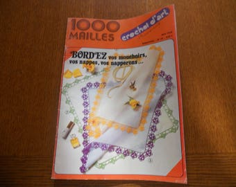 Book 1000 stitches Crochet d'art number 20 May 1978