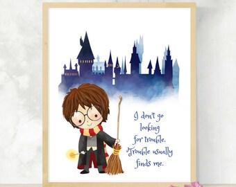 Harry Wizarding Quote | Nursery Decor | Baby Shower | HP Fandom | Wizarding World | Gift for Geeks | Little Wizard | HP Print