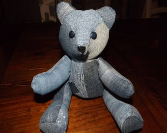 Little bear recycled denim, his name is POUKI