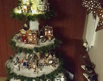 local pick up only in palmyra ny christmas tree village display stand - Christmas Tree Village