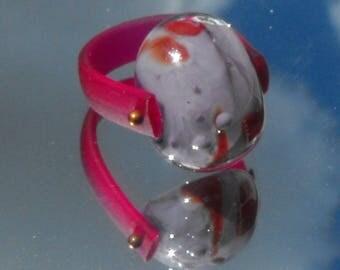 ring spun BAG.0833 Lampwork Glass Bead