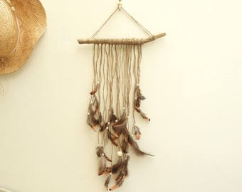 Dream driftwood, feathers and beads, Gypsy style