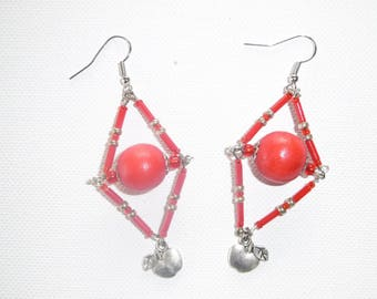 Red diamond earring