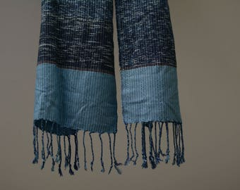 Indigo dyed cotton fablic
