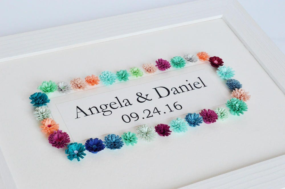 Gift For First Wedding Anniversary Couple: 1st Anniversary Gift First Anniversary Wedding Gift Couples