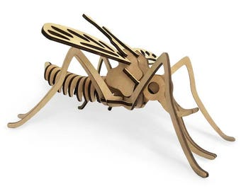 Wooden 3D puzzle Mosquito, Educational Development  Eco friendly toys for kids, Wooden construction models,  Gift for baby, Constructor