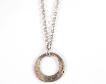 Man ring steel necklace - Stainless steel chain