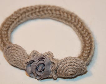 Strap wool and lace lavender blue flower child