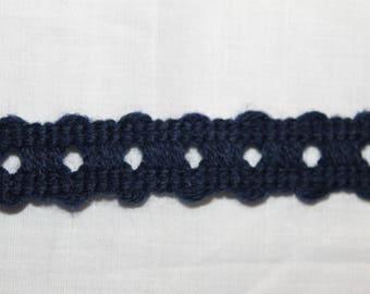 Vintage dark blue stripe