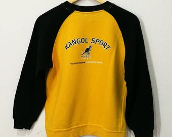 RARE!! Kangol Sport Spellout Big Logo Embroidery Jumper Pullover