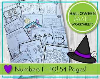 Halloween Worksheets, Halloween Printables, Halloween Activities, Preschool & Kindergarten Learning, Teaching Education Resource, Kids