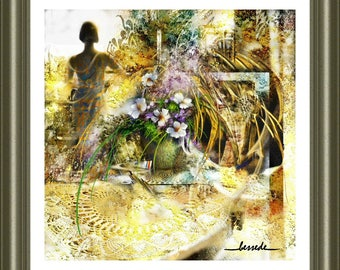 """""""waiting"""" print on canvas created digital promise of a summer day"""