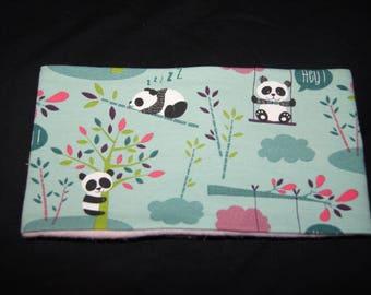 Snood child jersey / fleece patterns pandas 50 cm