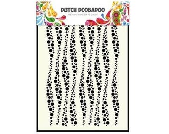 Stenciled Dutch Doobadoo Mask Wavy Stripes A5 new stencil Art