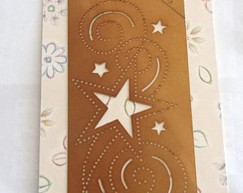 For embroidery, embossing and cutting ref.1001 stars STENCIL