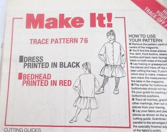 MAKE IT sewing pattern - dress for girl REF.  76