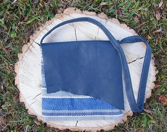 Blue Leather Purse - Small