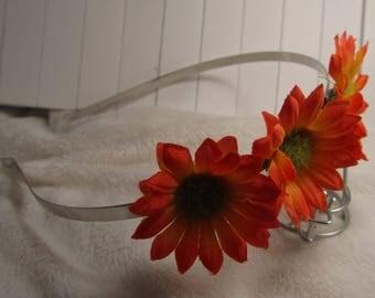 """the headband """"Sun flower"""" creat ' Y. O.N - unique & elegant-"""