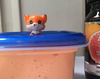 Super fluffy orange slime (scented) (large)