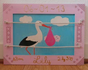 For a newborn baby memory frame