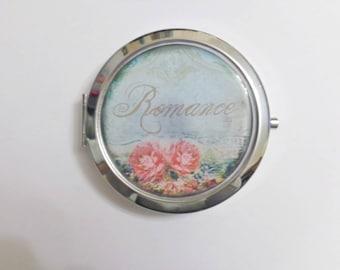 """Round Pocket mirror """"Romance"""""""